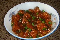 Salg: Fried Rice and Chicken Manchurian