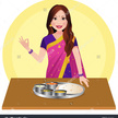000a313c63e8a8446ddcf396a696ca8b indian woman with indian food indian lady chef clipart 1500 1600